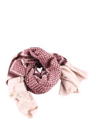 Zara Accesoires Bufanda de lana rosa-marrón estampado gráfico look casual