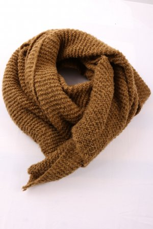 Zara Accesoires Woolen Scarf brown cable stitch casual look