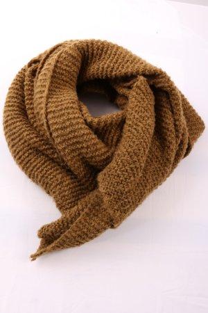 Zara Accesoires Bufanda de lana marrón punto trenzado look casual