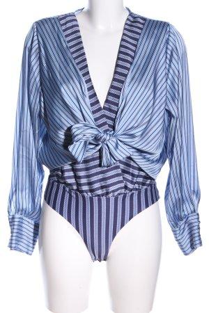 Zara Blusa cruzada azul estampado a rayas elegante