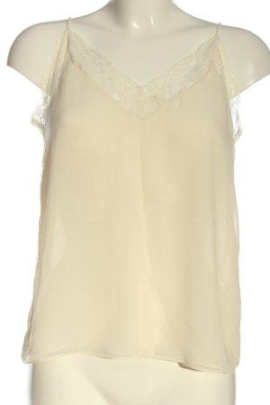 Zara ärmellose Bluse creme Casual-Look