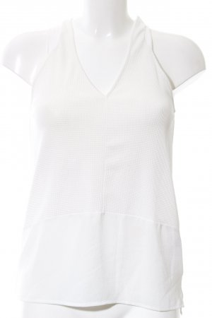 Zara ärmellose Bluse weiß Casual-Look
