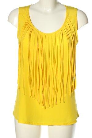 Zara ärmellose Bluse blassgelb Casual-Look