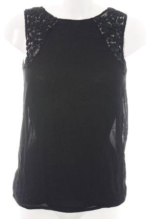 Zara ärmellose Bluse schwarz Casual-Look