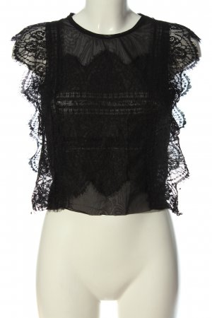 Zara ärmellose Bluse schwarz klassischer Stil
