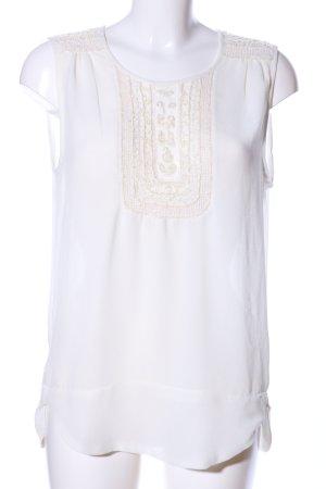 Zara ärmellose Bluse weiß Elegant