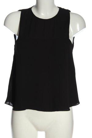 Zara ärmellose Bluse schwarz Business-Look