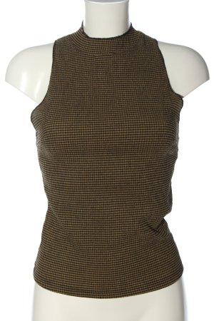 Zara ärmellose Bluse braun Allover-Druck Casual-Look