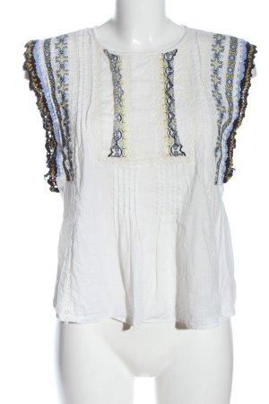 Zara ärmellose Bluse grafisches Muster Casual-Look