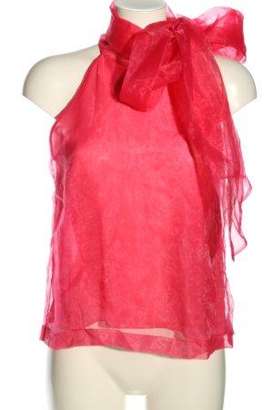 Zara ärmellose Bluse pink Webmuster Casual-Look