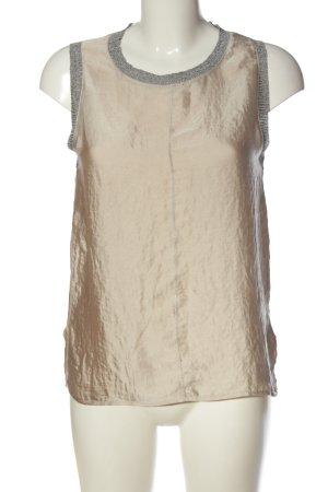 Zara ärmellose Bluse creme-hellgrau Casual-Look