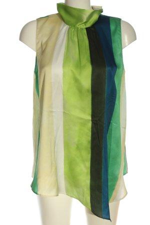 Zara ärmellose Bluse Streifenmuster Casual-Look
