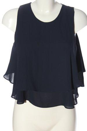 Zara ärmellose Bluse blau Business-Look