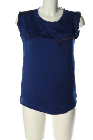 Zara ärmellose Bluse blau Casual-Look
