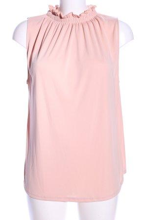 Zara ärmellose Bluse nude Business-Look