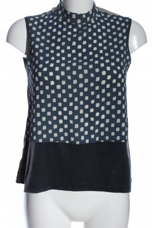 Zara ärmellose Bluse Punktemuster Business-Look