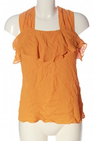Zara ärmellose Bluse hellorange Casual-Look