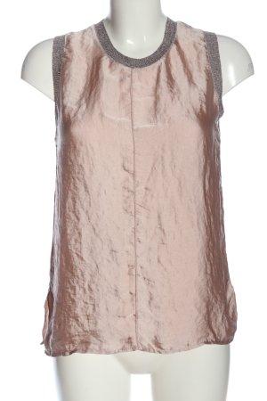 Zara ärmellose Bluse pink-hellgrau Glanz-Optik