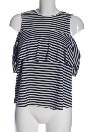 Zara ärmellose Bluse schwarz-weiß Allover-Druck Casual-Look