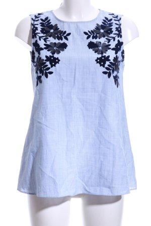 Zara ärmellose Bluse florales Muster Casual-Look