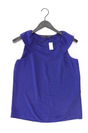 Zara Ärmellose Bluse Größe M blau aus Polyester