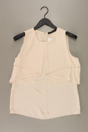 Zara Ärmellose Bluse Größe M creme aus Polyester
