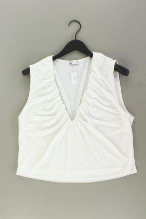 Zara Ärmellose Bluse Größe XL weiß aus Polyester