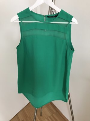 ZARA Ärmelloses Shirt mit transparenten Streifen