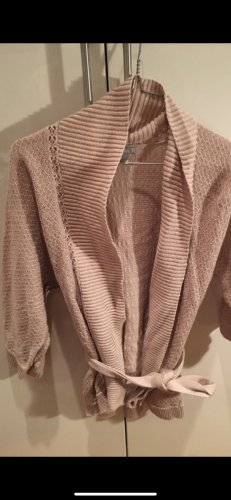 H&M Short Sleeve Knitted Jacket dusky pink