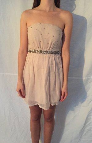 ZARA Altrosa Kleid mit Perlen