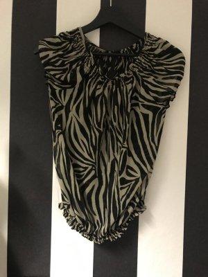 Zara Animal Print Bluse