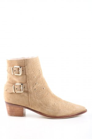 Zara Ankle Boots nude Casual-Look