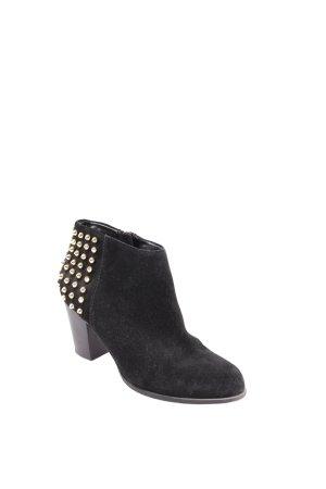 Zara Ankle Boots schwarz Nieten-Detail