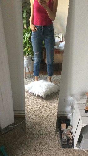 Zara Ankle Jeans Perlen