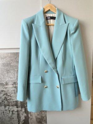 Zara Traje de negocios azul pálido-azul claro