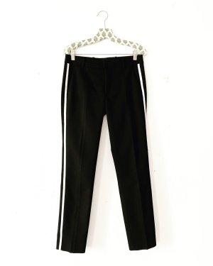 Zara • anzughose • schwarz • weisser streifen