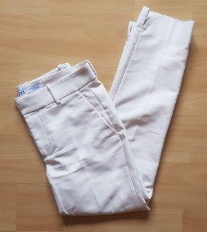 Zara Spodnie garniturowe jasnobeżowy