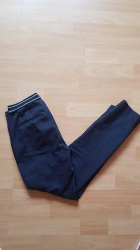 Zara Spodnie garniturowe ciemnoniebieski