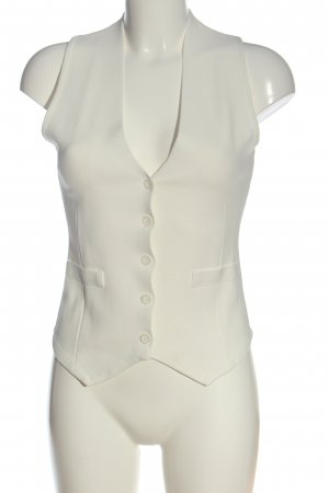 Zara Chaleco de vestir blanco estilo «business»