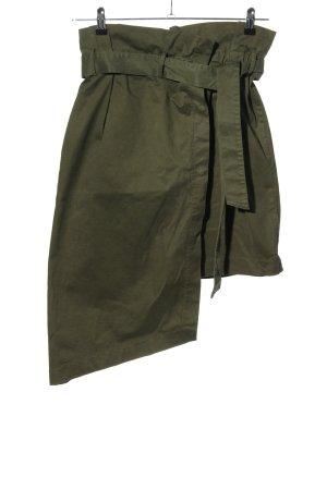 Zara Asymmetrische rok khaki casual uitstraling