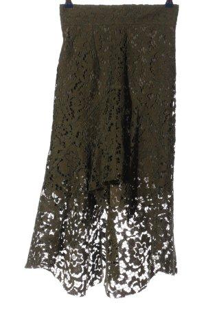 Zara Asymetryczna spódniczka brązowy Wzór w kwiaty W stylu casual