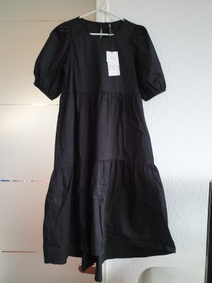Zara asymmetrical Poplin Kleid