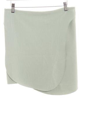 Zara Asymetryczna spódniczka miętowy W stylu biznesowym