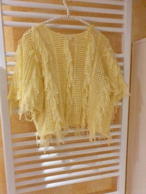 Zara, ausgefallenes, leicht transparentes Shirt gelb