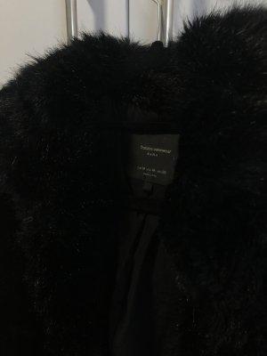 Zara Pelt Coat black