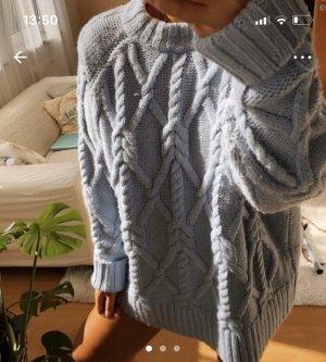 Zara Baby blau sexy Pullover over Blogger