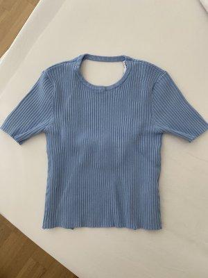 Zara Rugloze top babyblauw-azuur