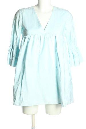 Zara Babydoll-jurk turkoois casual uitstraling