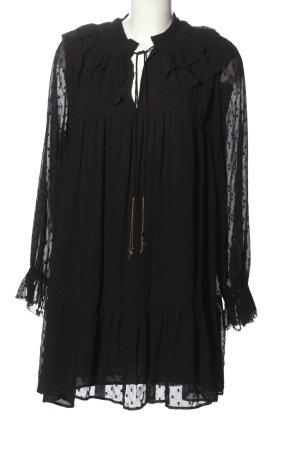 Zara Robe Babydoll noir style décontracté