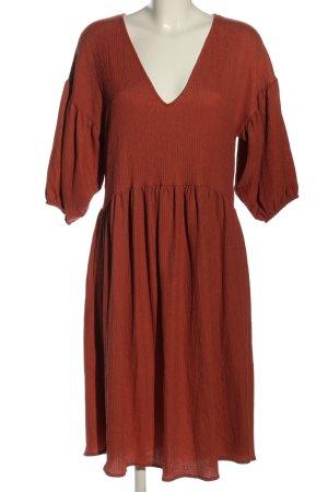 Zara Babydoll-jurk bruin casual uitstraling